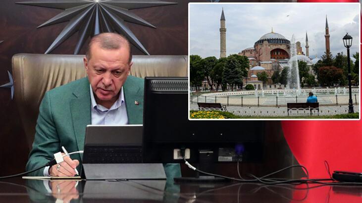 Son dakika! Erdoğan'dan Ayasofya talimatı! Kararname üzerinde ...