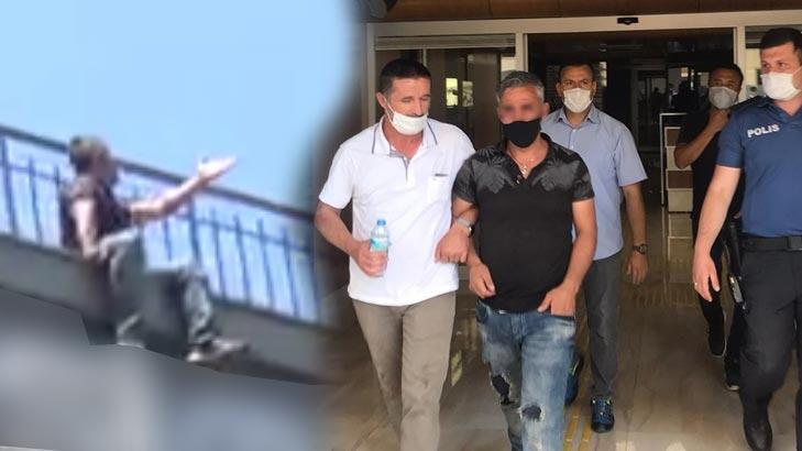 Kayseri'de şok eden manzara Film izler gibi intihar girişimini izlediler