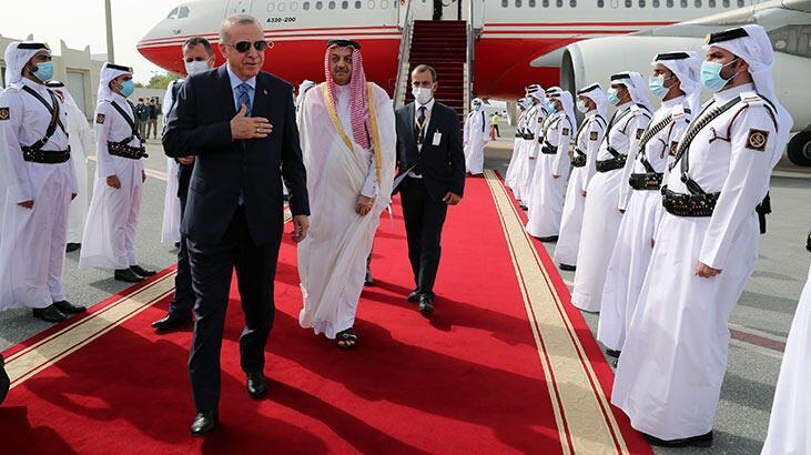 Son dakika! Cumhurbaşkanı Erdoğan Katar'a geldi - Son Dakika Haberler