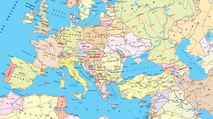 Avrupa Kıtası Ülkeleri Hangileridir? Başkent İsimleri İle Birlikte Avrupa Ülkeleri - En Son Haberler - Milliyet
