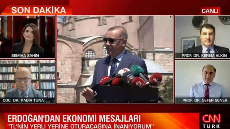 Cumhurbaşkanı Erdoğan ekonomiye güven mesajı verdi... Uzmanlar CNN Türk'te yorumladı