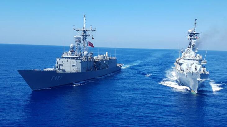 MSB'den son dakika Doğu Akdeniz açıklaması! Görüntüler paylaşıldı ...
