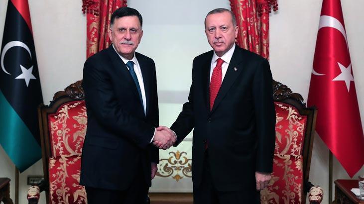 Kritik Libya görüşmesi! Cumhurbaşkanı Erdoğan, Fayiz es-Serrac'ı kabul etti