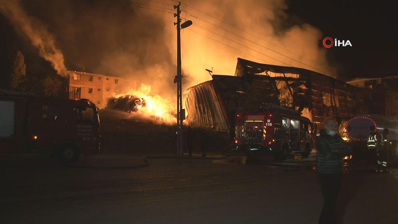 Ankara'da kereste fabrikasında yangın - Haberler Haberleri