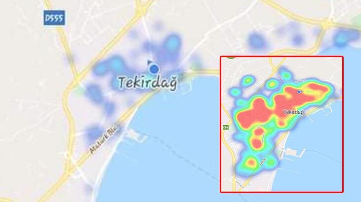Bakan Koca'nın örnek gösterdiği Tekirdağ için korkutan harita! - Son Dakika  Milliyet