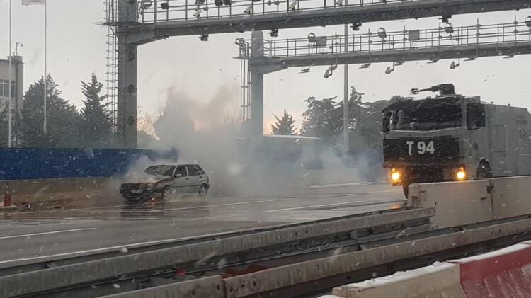 Son dakika... 15 Temmuz Şehitler Köprüsünde yangın paniği