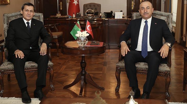 Çavuşoğlu, Türkmenistanlı mevkidaşıyla ortak basın toplantısında konuştu