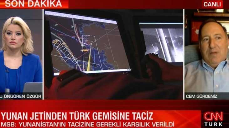 Son dakika... Yunan jetinden Türk gemisine tacize Cem Gürdeniz'den flaş yorum: Bu planlı bir kışkırtma