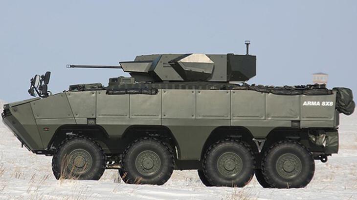 Türk yapımı zırhlı muharebe aracı Arma 8×8 Kazakistan topraklarında!
