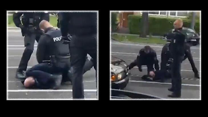 Frankfurt'ta Türk vatandaşına yönelik polis şiddetine tepki yağdı