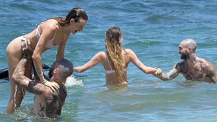 Adam Levine ile Behati Prinsloo tatile çıktı thumbnail