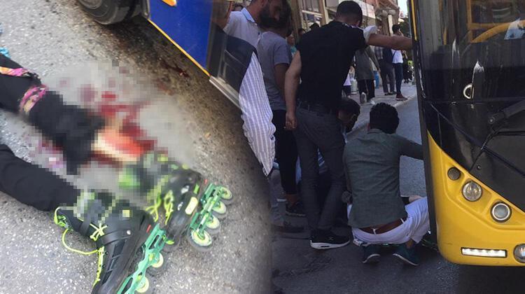 Patenle kayarken otobüsün altında kalan çocuk ağır yaralandı