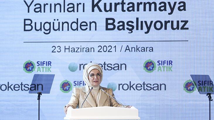 Emine Erdoğan, Roketsan'a 'Sıfır Atık Belgesi' verdi - Haberler Milliyet