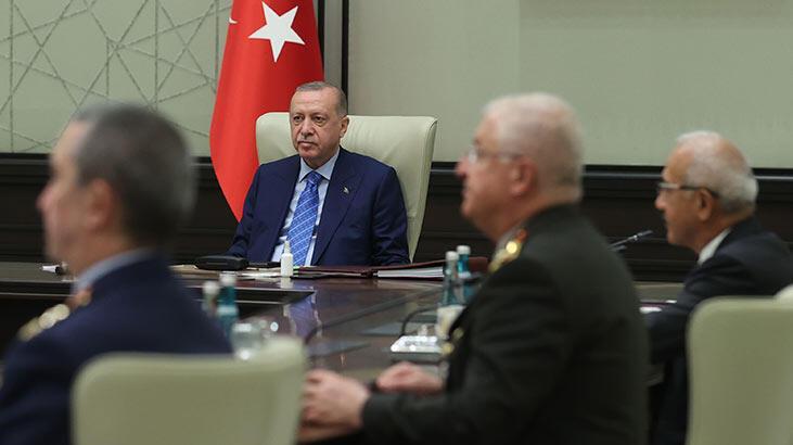 Cumhurbaşkanı Erdoğan başkanlığındaki Yüksek Askeri Şura toplantısı sona erdi