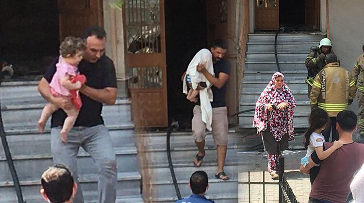 Son dakika... İstanbulda korkutan yangın 2si çocuk, 5 kişi dumandan etkilendi