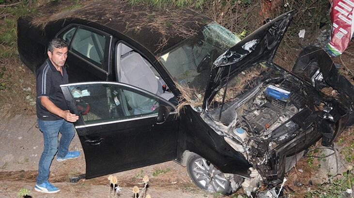 Kocaeli'de otomobil devrildi: 2 yaralı