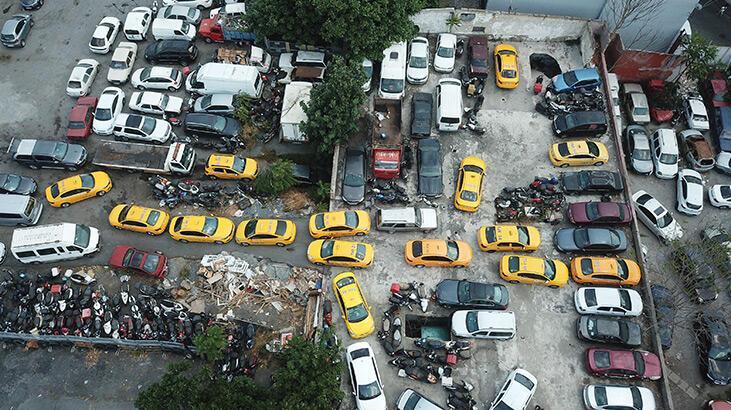 İstanbul'da şikayetler arttı! Yediemin otoparkları taksilerle doldu