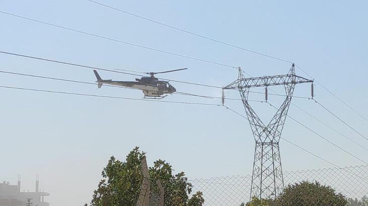Şanlıurfa'da yüksek gerilim hattında helikopter paniği!