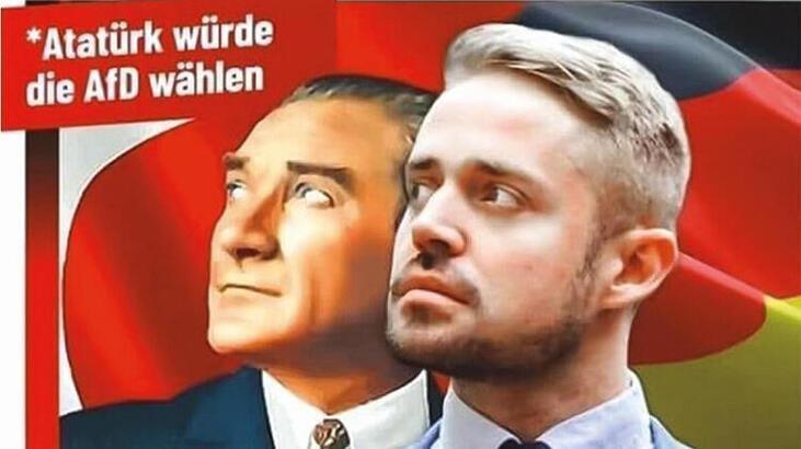 Almanya'da skandal! Atatürk afişine büyük tepki yağıyor