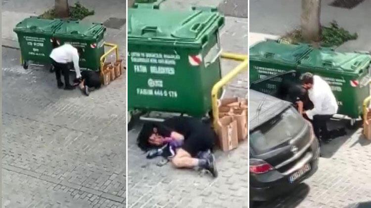 Fatih'te kadına şiddet kamerada! Önce dövdü, sonra zorla arabaya bindirdi