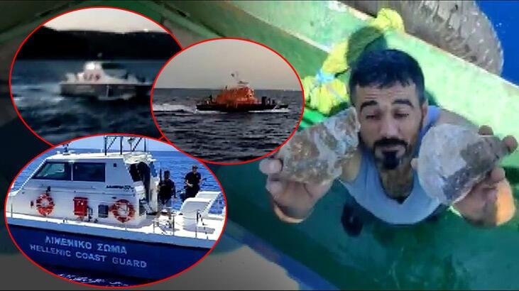 Yunan askerleri Türk balıkçılara taşla saldırdı