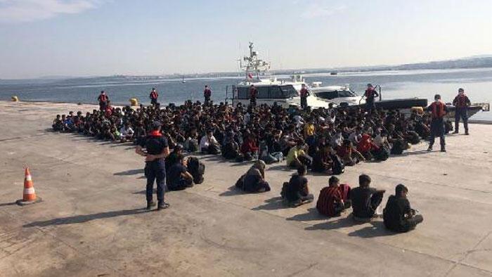Çanakkale Boğazı'nda 204 kaçak göçmen yakalandı