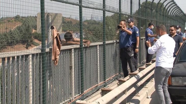 Sultangazi'de intihar girişiminden vazgeçen kişiye polisten alkış