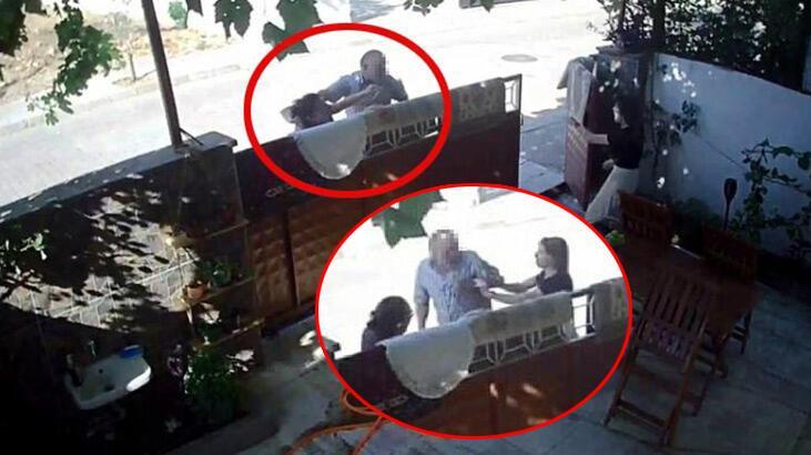 71 yaşındaki komşu dehşet saçtı! Yaşananlar kamerada