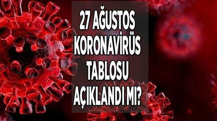 27 Ağustos bugünkü koronavirüs tablosu: Son dakika korona vaka sayısı ve ölü sayısında son durum nedir?