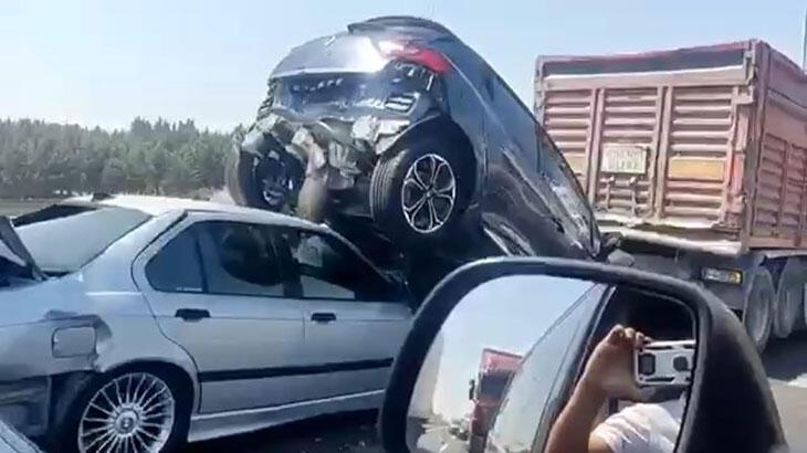Son dakika... TEM'de zincirleme kaza! Trafik durma noktasına geldi