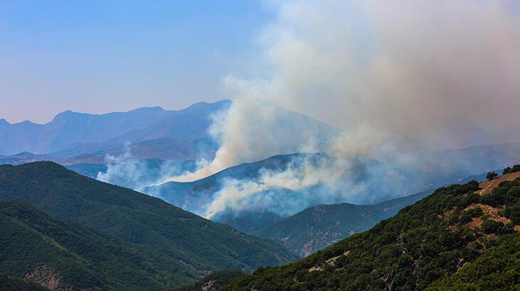 Tunceli Valiliği: Örtü yangını 2 noktada söndürüldü