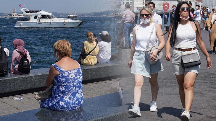 İstanbul nem bunalttı, sahile akın ettiler