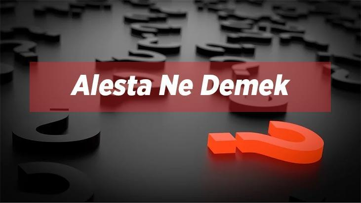Alesta Ne Demek? Alesta Tdk Sözlük Anlamı Nedir?