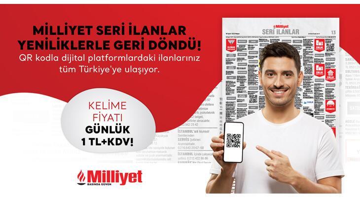 Milliyet Gazetesi 'Seri İlanlar Sayfaları' dijital yeniliklerle geri döndü