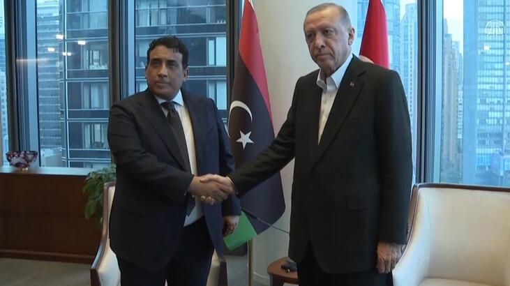 Cumhurbaşkanı Erdoğan ve Libya Başkanlık Konseyi Başkanı El-Menfi görüştü