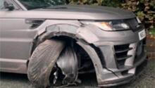 Yıldız futbolcu trafik kazası geçirdi!