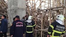 Cami inşaatında çökme! 1 işçi enkaz altında