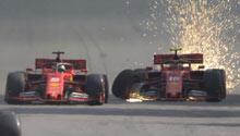 İki Ferrari birbiriyle çarpıştı!