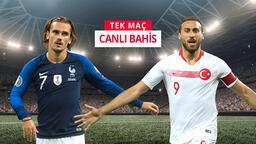 Fransa-Türkiye maçına Misli.com'da canlı oyna!