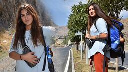 Genç kız otostopla çıktığı Türkiye turunu tamamladı!