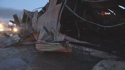 Elazığ'daki fabrika yangını söndürüldü