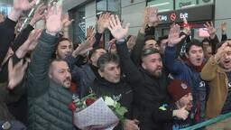 Trabzonspor'a İstanbul'da coşkulu karşılama!