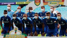 Gremiolu futbolcular maça maskeyle çıktı!