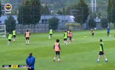 Fenerbahçe idmanında gol şov!