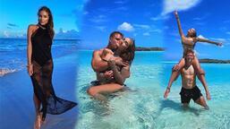 Olivia Culpo ve sevgilisi Christian McCaffrey tatilde