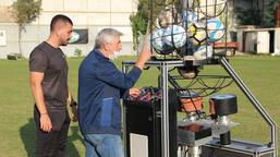 Yerli 'top atma makinesi!' Türkiye'de bir ilk...