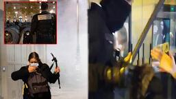 Ülke şokta! Paris'te polis göçmenlere saldırdı