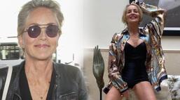 Sharon Stone sosyal medyayı salladı