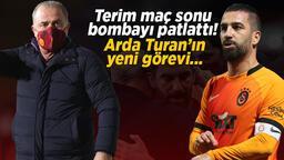 Son dakika Galatasaray haberleri: Fatih Terim maç sonu bombayı patlattı! Arda Turan'ın yeni görevi...