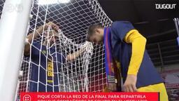 Gerard Pique'den Kral Kupası hatırası